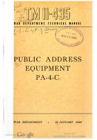 Cover of: Public Address Equipment PA-4-C